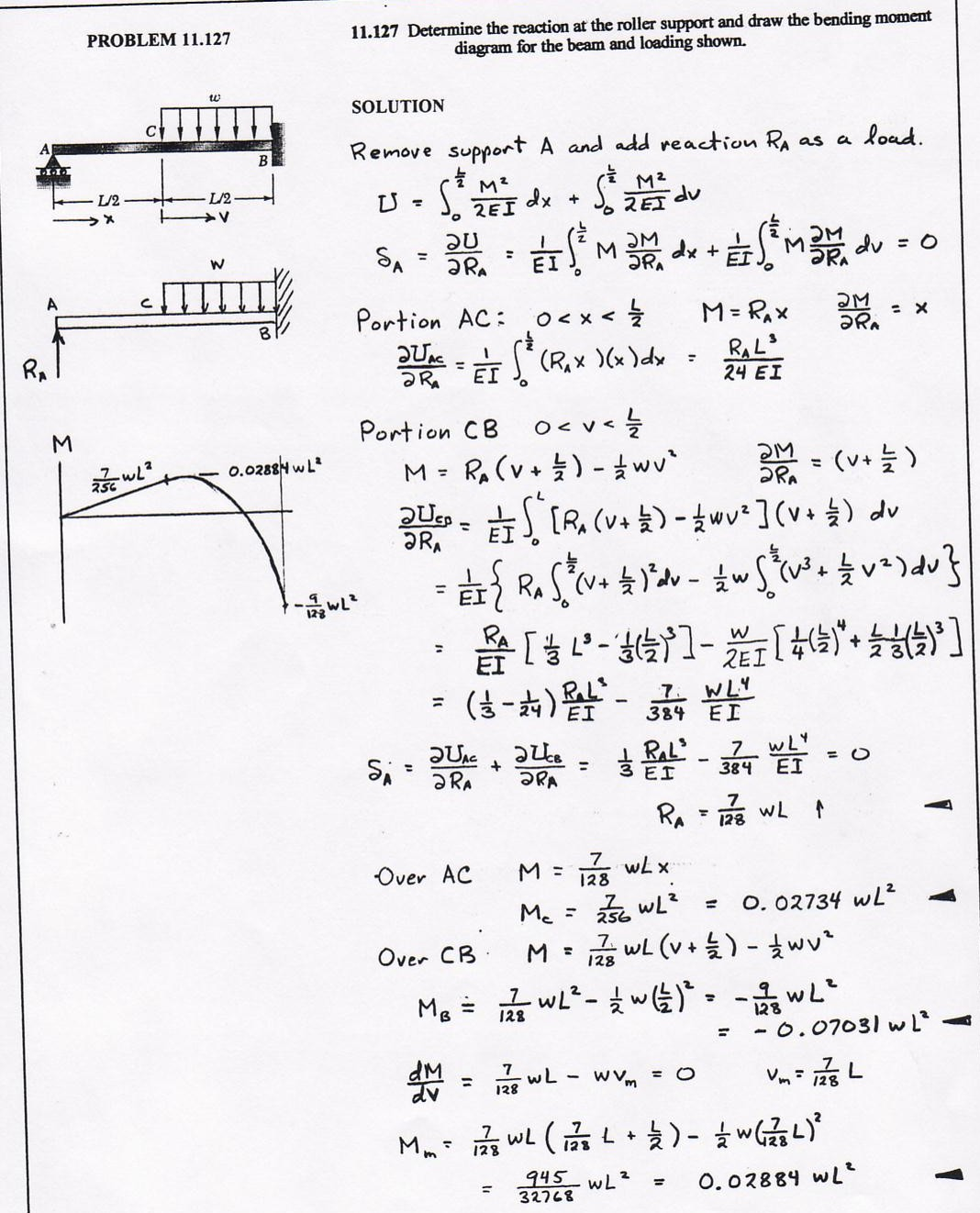 Enci 461 Moment Diagram By Parts Strength Of Materials Review Mechanics