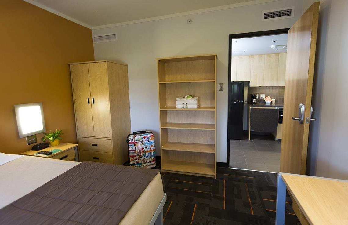 two bed dorm apartments at University of Calgary