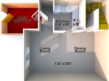 Family Housing two bedroom downstairs floor plan