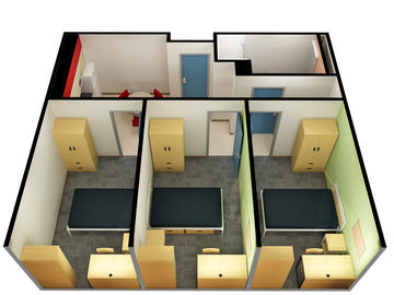 Yamnuska Hall 3 bedroom floorplan