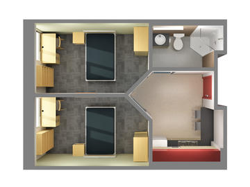 Yamnuska Hall 2 bedroom floorplan