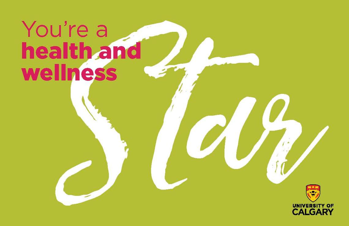You're a Health and Wellness Star