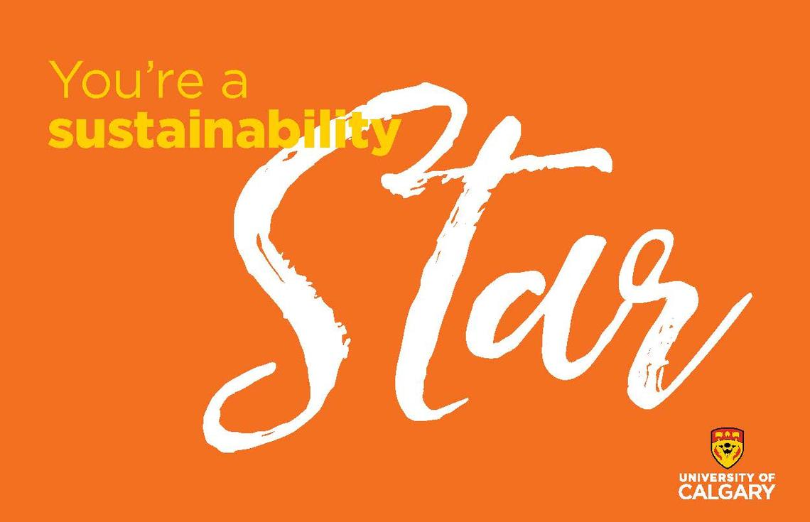 You're a Sustainability Star