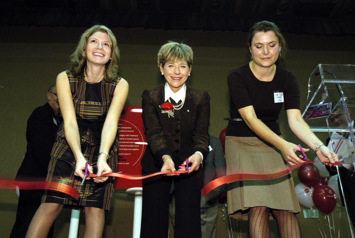 Sheila O'Brien at the ribbon cutting ceremony for the WRC