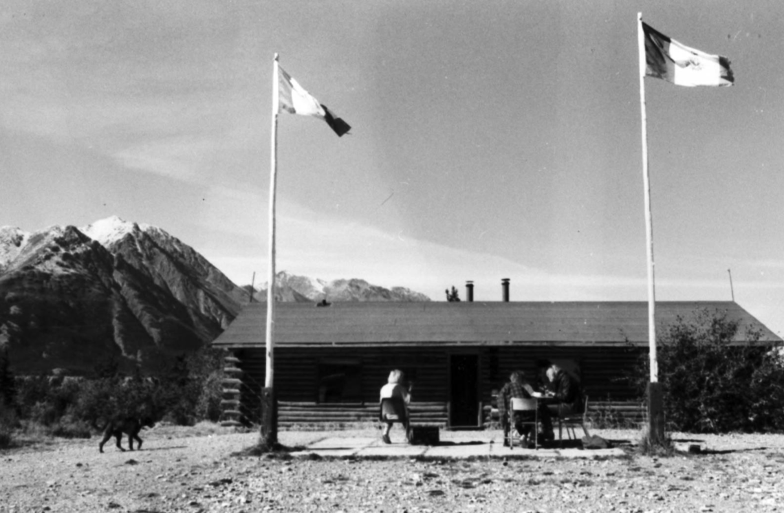 Image of the Walter Wood Building at Kluane Lake Research Station, managed by the Arctic Institute of North America.