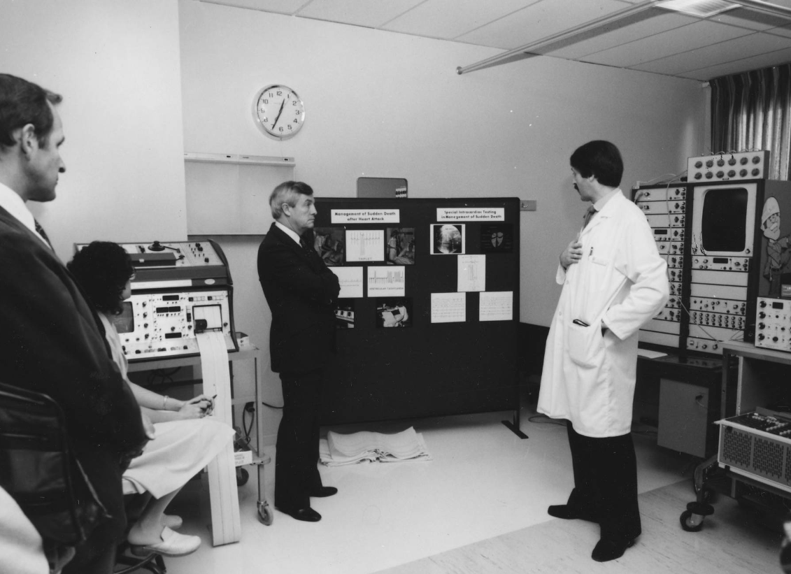 Peter Lougheed - opening of Foothills Hospital Cardiovascular Research Lab