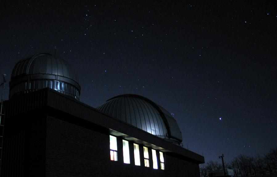 Rothney observatory at night