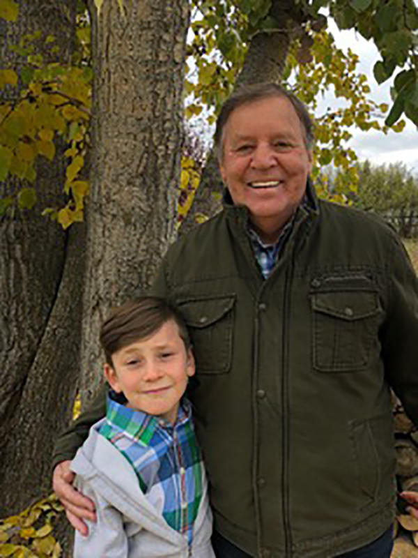 Terry Morey and his grandson, Cade