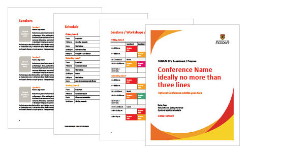 UCalgary Conference Program template