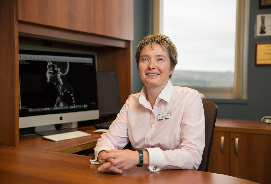 Dr. Shelagh Coutts, MD, a neurologist at the Foothills Medical Centre, a professor in the departments of Clinical Neurosciences, Radiology and Community Health Sciences.