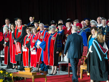 Installation of President Ed McCauley