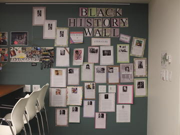 Black History Month wall in our kitchen