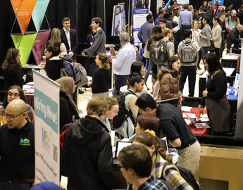 Attendees at the 2020 Winter Career Fair