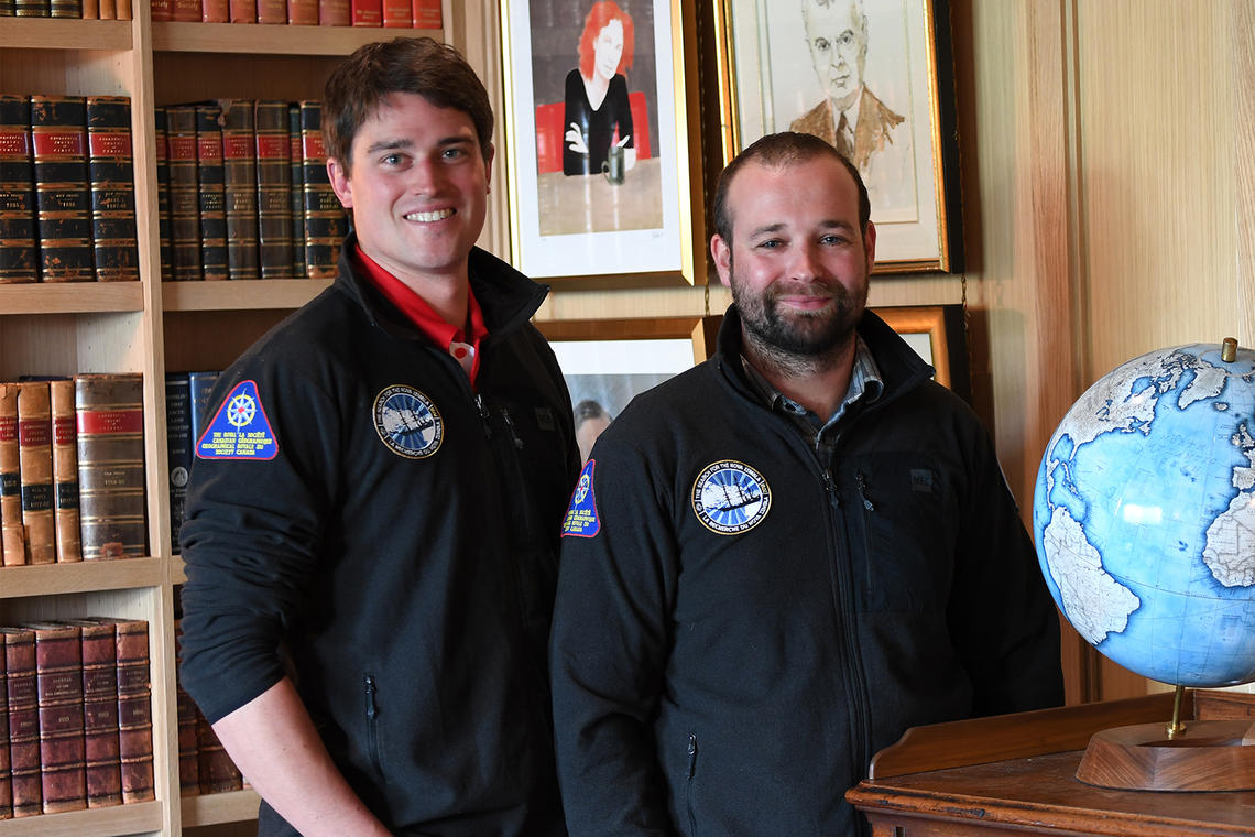 Michael Moloney, left, and Matthew Ayre say the wreck of a Scottish whaling ship they located will help them learn about the history of whaling in the High Arctic.