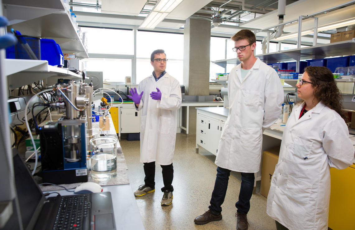 Carter Dzuiba's research is part of a new partnership between the University of Calgary and the Norwegian University of Science and Technology for advanced research and education on carbon storage and enhanced oil recovery.