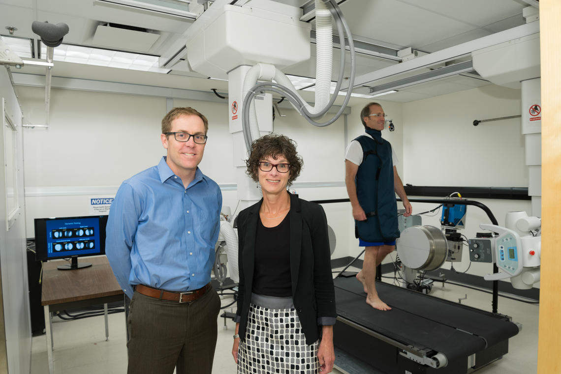McCaig Institute researchers Steven Boyd and Janet Ronsky at the newly opened centre for Mobility and Joint Health. Photos by Don Molyneaux for the University of Calgary