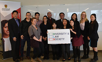 Some Diversity and Law Society executive members pose with Judge Gordon Wong (back row, fourth from right). The DLS executive includes Chris Yan, third-year law student and president; Caroline Law, third-year law student and vice-president; third-year law students Mike Gaber, John Lee, Vivian Tran, Hanson Wong, Larissa Bergh and Lauren Zaoral; second-year law students Geeth Makepeace, Julie Kim and Jessica Zhang; and first-year law students Marcia Cho, Kim Diep, Holly Wong and Yulin Shin.