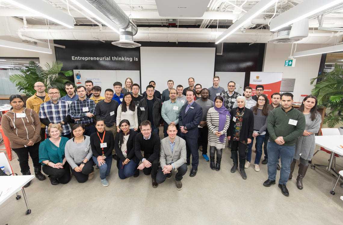 Participants and instructors take part in the new Energy Innovators workshop series at the University of Calgary. Photos by Adrian Shellard, for the University of Calgary
