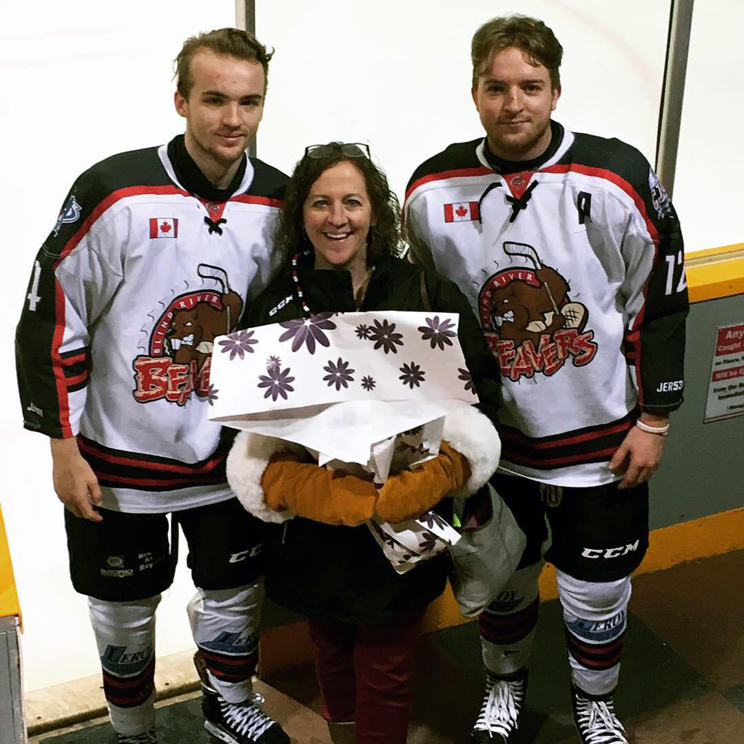 Engel's sons celebrated her birthday with flowers during a Junior A game in Ontario. Engel gave back to the hockey community by billeting two hockey players in Medicine Hat.