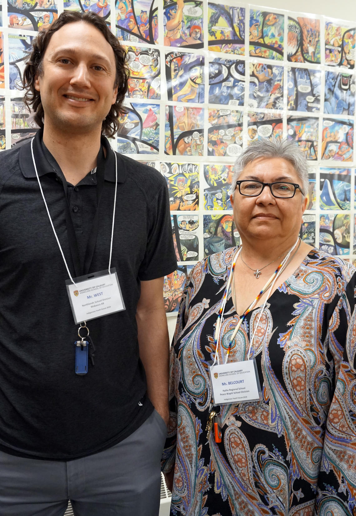 Leo West and Barb Belcourt were impressed with the growth their students displayed as a result of the Indigenous Youth Forum, so returned for a second year.