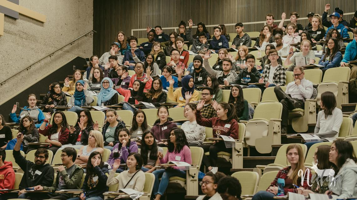 The seventh-annual StemCellTalks event drew 180 high school students from across Calgary.