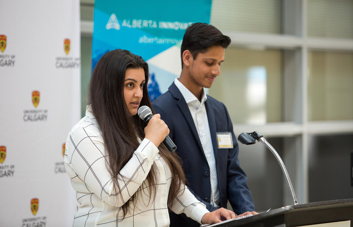 Students speak at open house