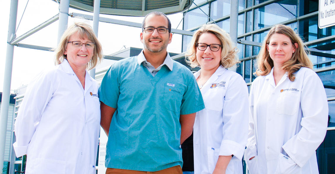 Vet Med doctors who helped Smudge