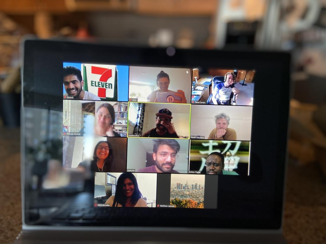 Master of Planning students connect almost daily with their professor via Zoom