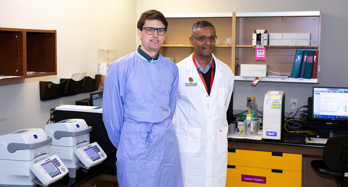Researchers Dyan Pillai and Byron Berenger
