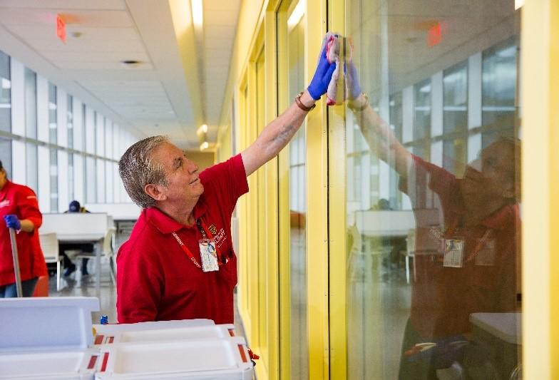 UCalgary's caretaking team is trained to clean and disinfect campus during COVID-19