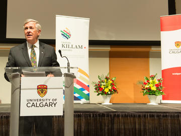 Killam Trustee Jim Dinning addresses the reception