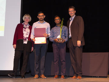 Emerging Leaders for Solar Energy (ELSE) won the 2019 Student Clun Sustainability Award. The award was accepted by Karthi Karunakaran and Varun Bhatt