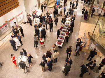Guests mingle with the 2017 Killam Laureates at the Taylor Institute for Teaching and Learning