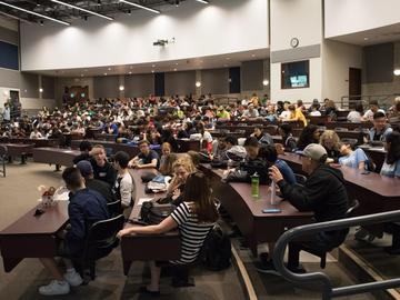 More than 250 high school students gathered at the University of Calgary to compete in an Amazing Race style competition on June 1.
