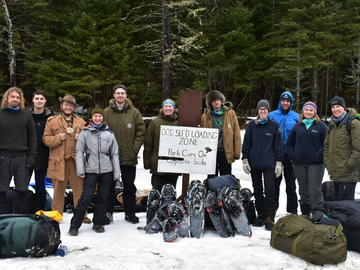 Werklund School of Education graduate student Nicholas Butt was part of a cohort that engaged in a 10-day snowshoe and dogsled expedition across Ontario's Algonquin Provincial Park