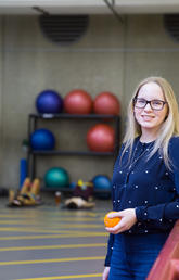 Robyn Madden, a master's student in the Faculty of Kinesiology, spent two years collecting data as a starting point for the creation of a much-needed nutritional guideline for Paralympic athletes. Photo by Riley Brandt, University of Calgary