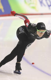 Marsha Hudey will compete in the 500 metre long-track speedskating competition at the Pyeongchang Olympics.