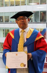 Dr. Victor Song, BA'05, PhD'14, upon receiving his a joint doctorate in Finance and Economics from the University of Calgary