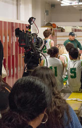 Basketball film shoot