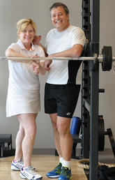 Heather and Michael Giuffre at the gym