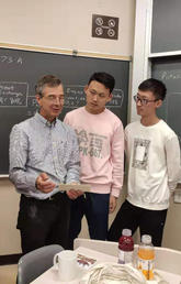 Associate Professor Ed Nowicki and CISP students in engineering classroom