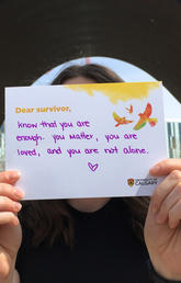 Share your #SurvivorLoveLetters during Sexual Violence Awareness Month