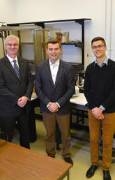 Cam Teskey, Paolo Federico and PhD student Jordan Farrell worked together on the study.