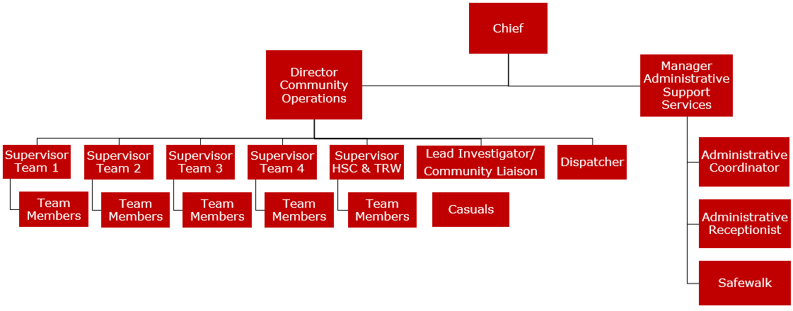 Campus Security Organizational Chart