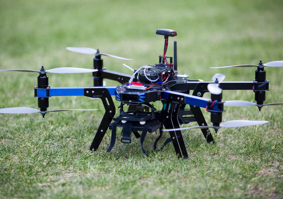 Drone on the grass