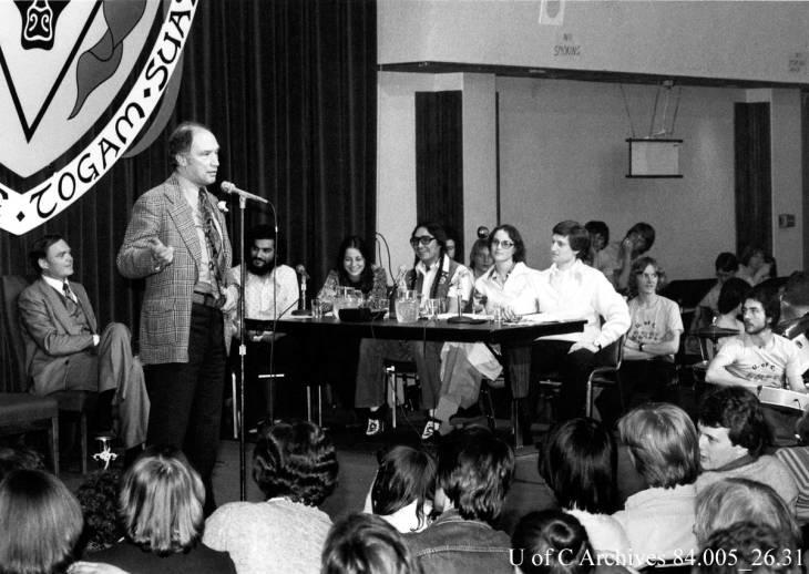 Prime Minister Pierre Trudeau's visit to campus